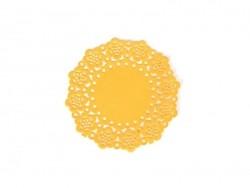 75 small doilies - tangerine
