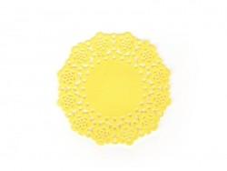 75 Zierdeckchen - gelb