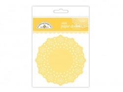 75 small doilies - yellow