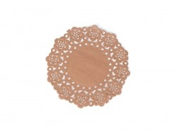 75 small doilies - chocolate