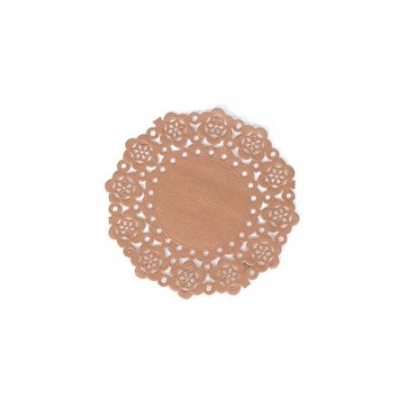 75 small doilies - chocolate