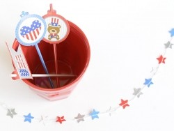 32 toppers pour tout décorer - Independence Day