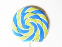 Eraser in the shape of a lollipop - blue and green