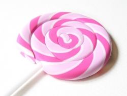 Eraser in the shape of a lollipop - pink