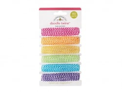 Assortiment de 6 Attaches étiquette - Couleurs pastel