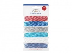 Baker's Twine assortment (6x) - Blue, white, and red