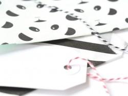 Pompon en papier de soie 20 cm - blanc