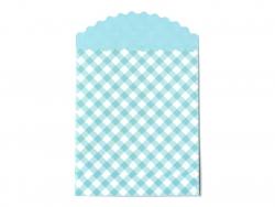 15 pochettes cadeaux - Vichy Turquoise