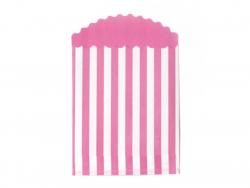 15 pochettes cadeaux - Rayures Bubblegum