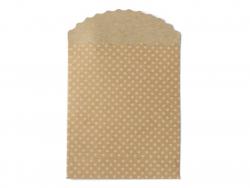 15 Geschenktüten - Kraftpapier mit weißen Streifen