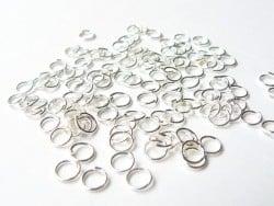 100 anneaux 5 mm - argenté foncé  - 1