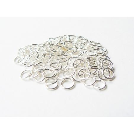 100 jump rings, 5 mm - dark silver-coloured