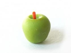 1 pomme verte miniature très réaliste