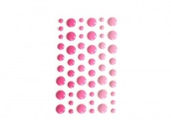54 small round stickers - Bubblegum