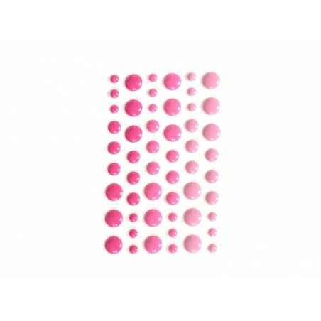 54 petits stickers ronds - Bubblegum