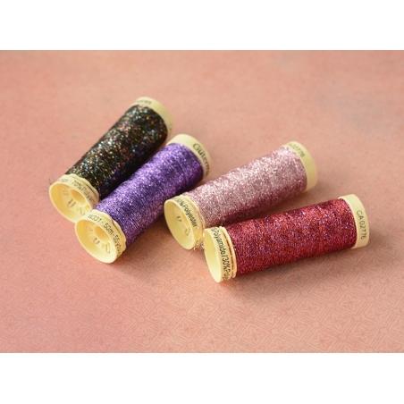 Metallic effect thread - 50 m - Fuchsia (colour no. 247)
