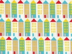 """Small World"" fabric - City Streets - organic cotton"