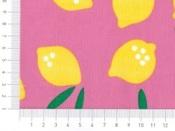 "Tissu ""Small World"" - Lemon Drop en coton Bio"