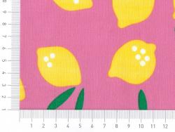 """Tissu """"Small World"""" - Lemon Drop en coton Bio"""