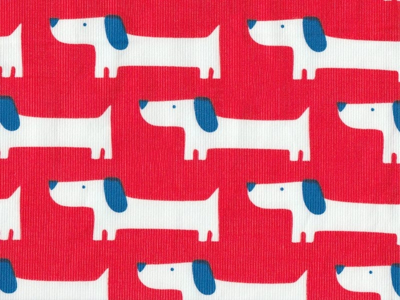 """Small World"" fabric - Rover - organic cotton"