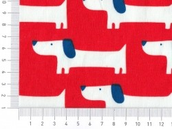 """Small World"" fabric - Rover - organic cotton"