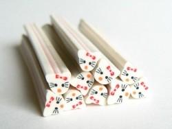 Acheter Cane Chat Kawaii en pâte fimo - à découper en tranches - 0,99€ en ligne sur La Petite Epicerie - Loisirs créatifs