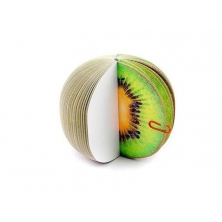 Fruit-shaped notepad - kiwi