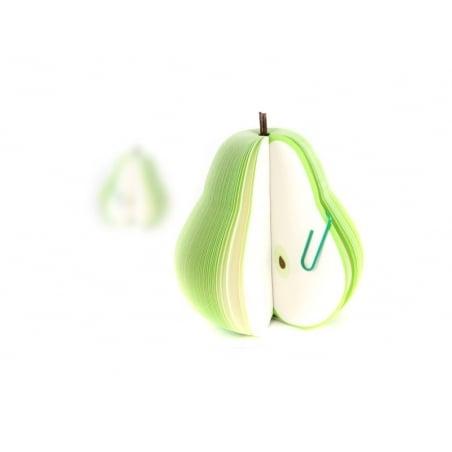 Bloc note en forme de fruit - POIRE  - 2