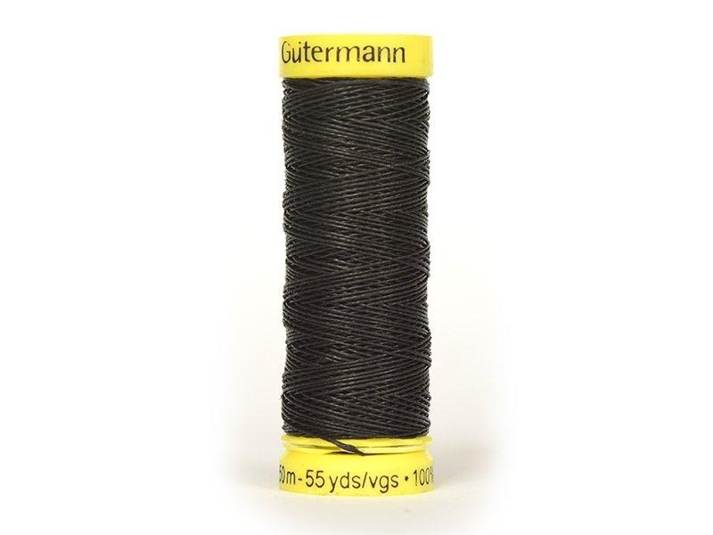 Fil lin -50 m- Noir 7202