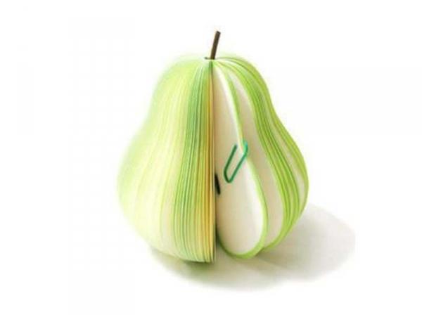 Bloc note en forme de fruit - POIRE  - 3