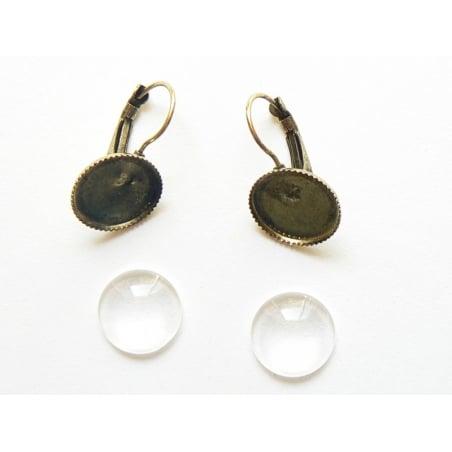 Acheter 1 paire de boucles d'oreilles + CABOCHONS - 3,50€ en ligne sur La Petite Epicerie - 100% Loisirs créatifs
