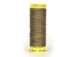 Linen thread - 50 m - Khaki (colour no. 4010)