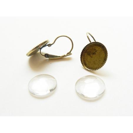 Acheter 1 paire de boucles d'oreilles + CABOCHONS - 3,50€ en ligne sur La Petite Epicerie - Loisirs créatifs