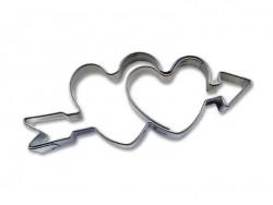 Acheter Emporte-pièce Coeurs et flèches - 3,50€ en ligne sur La Petite Epicerie - Loisirs créatifs