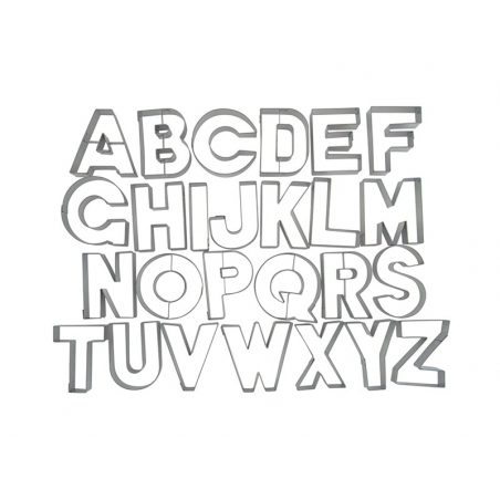 Biscuit cutter - Letters