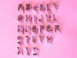 Ausstechform - Buchstaben