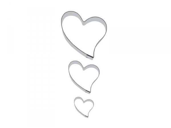 3 Emporte-pièces Coeurs