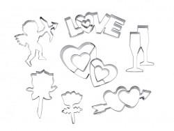7 Ausstechformen - Liebe