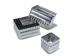 6 Ausstechformen - Quadrate mit gewelltem Rand