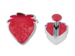Ausstechform + Stempel - Erdbeere