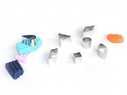 42 Ausstechformen - geometrische Figuren