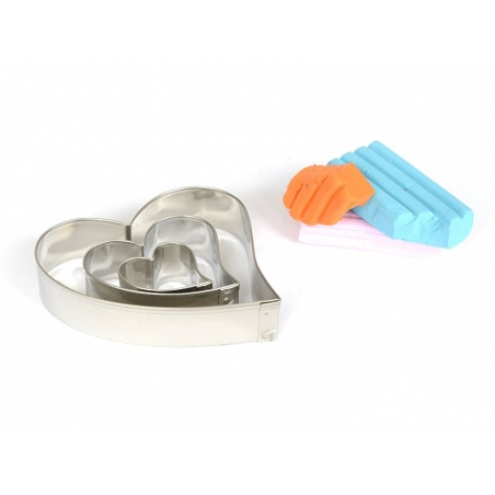 3 biscuit cutters - Hearts
