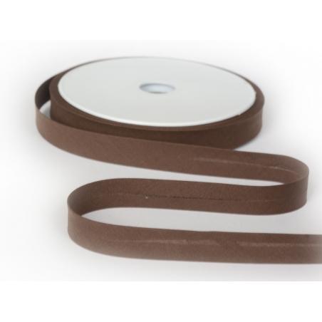 1 m of bias binding (20 mm) - chocolate brown (colour no. 56)