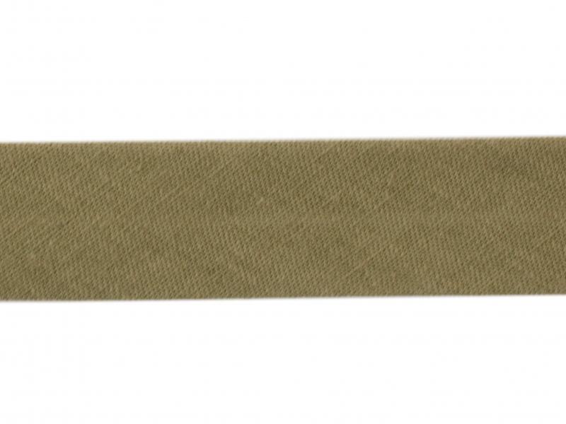 1 m of bias binding (20 mm) - khaki (colour no. 57)