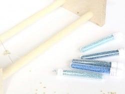 Tube de 1100 rocailles - Miyuki Delicas 11/0 - Bleu canard clair 2132