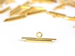 Goldfarbene Endkappe für gewebte Perlenarmbänder - 15 mm
