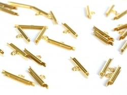 10 Federringverschlüsse, 6 mm - goldfarben