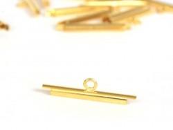Goldfarbene Endkappen für gewebte Perlenarmbänder - 20 mm