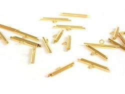 Embout pour tissage de perles Doré - 20 mm