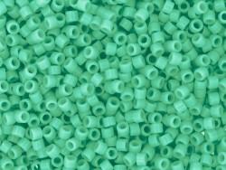 Röhrchen mit 1.100 Rocailleperlen - Miyuki Delica's 11/0 - smaragdgrün, Nr. 2125